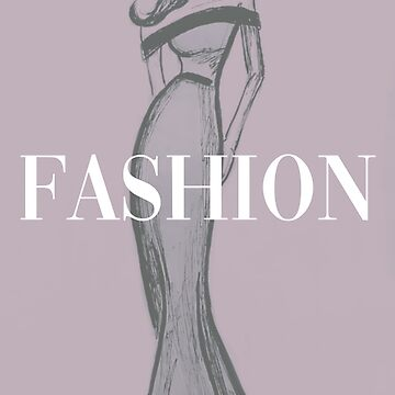 Fashion Model Sketch Wall Decor by Claireandrewss