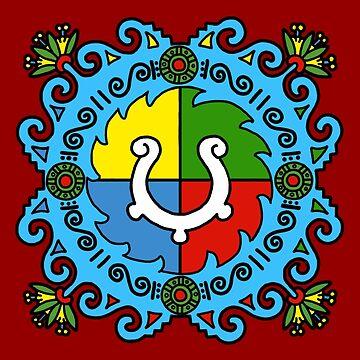 Totopotzayotl inahualliztli (The balance of harmony) by tecuani122112