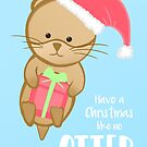 Christmas Otter Card by JustTheBeginning-x (Tori)