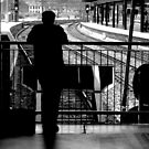 Shillouette at the Station  by Glen Allen