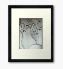 violin pencil sketch © 2009 patricia vannucci Framed Print
