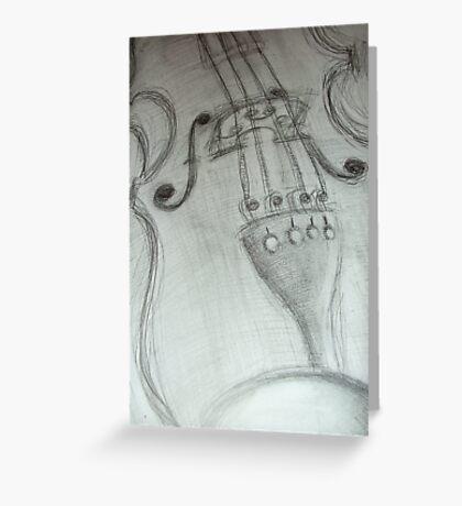 violin pencil sketch © 2009 patricia vannucci Greeting Card
