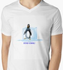 Stay Cool! Men's V-Neck T-Shirt