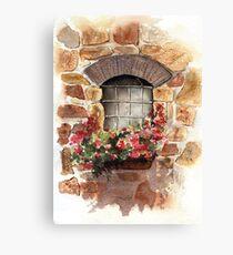 A Window from Civita, Tuscany, Italy Canvas Print