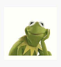 Lámina artística Kermit la rana
