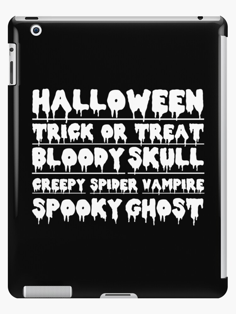 halloween trick or treat creepy skull bloody von KM-Shirt