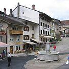 Town of Gruyeres by Elena Skvortsova