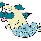 Mer Pug by Chuck Whelon