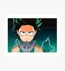 Izuku Midoriya - Boku No Hero Academia Art Print