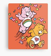 Tenderheart and Cheer Bear Vintage Retro 80s 1980s Metal Print