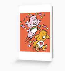 Tenderheart and Cheer Bear Vintage Retro 80s 1980s Greeting Card