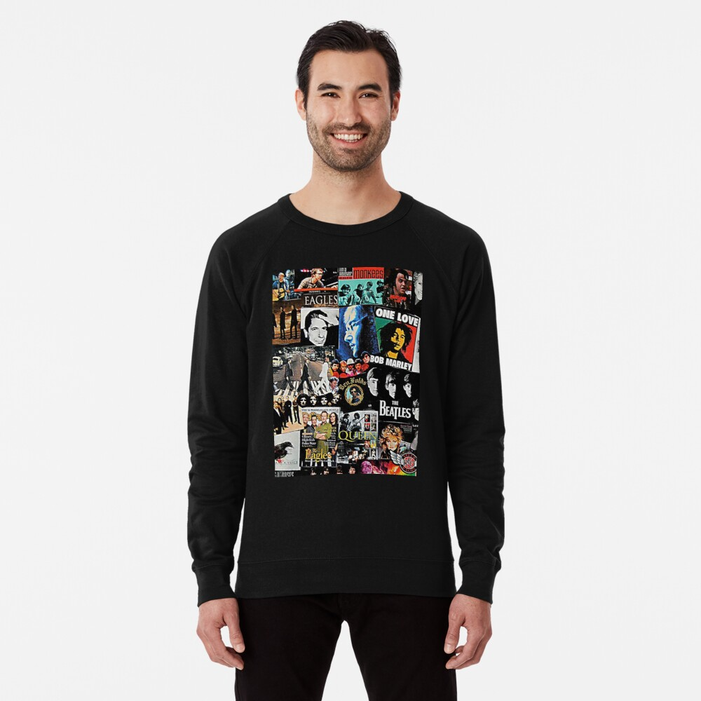 Rock Collage Lightweight Sweatshirt