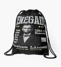 Abraham Lincoln, 16th U.S. President | Renegade Drawstring Bag