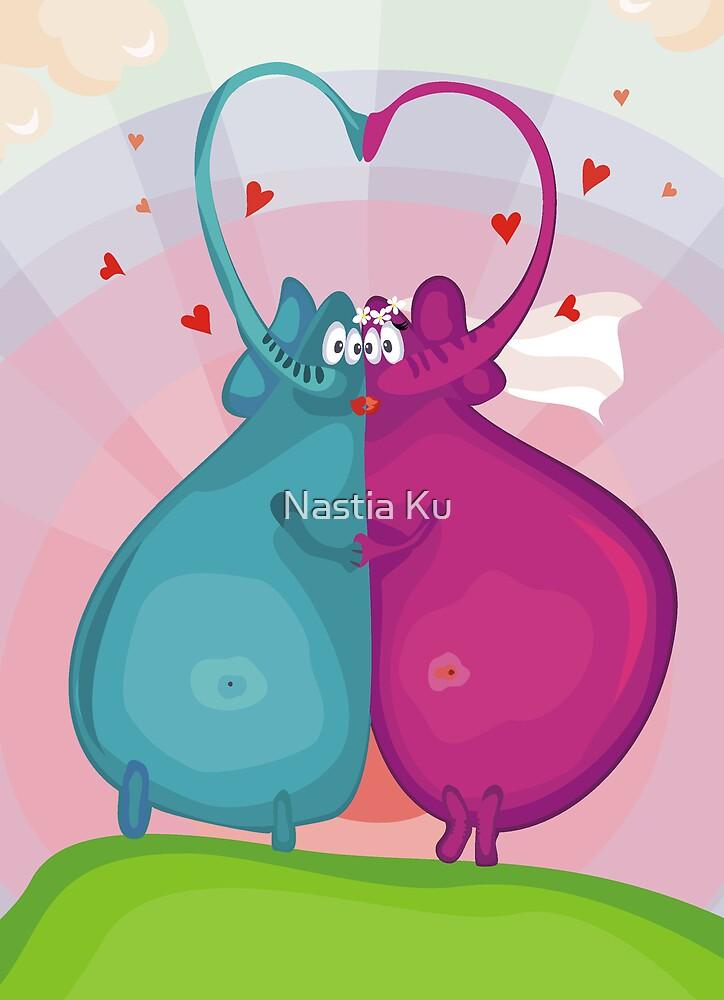 elephant wedding by Anastasiia Kucherenko