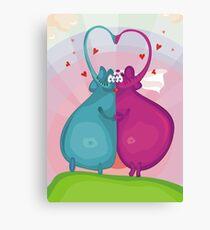 elephant wedding Canvas Print