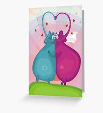 elephant wedding Greeting Card