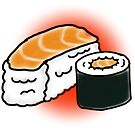 Salmon Sushi by Rachell Smith