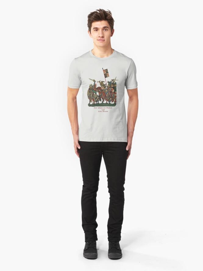 Alternate view of  Johann von Brabant in 1288 Battle  Slim Fit T-Shirt