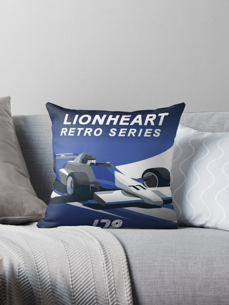 Lionheart Retro Pillows and Stickers by CartoonHeart