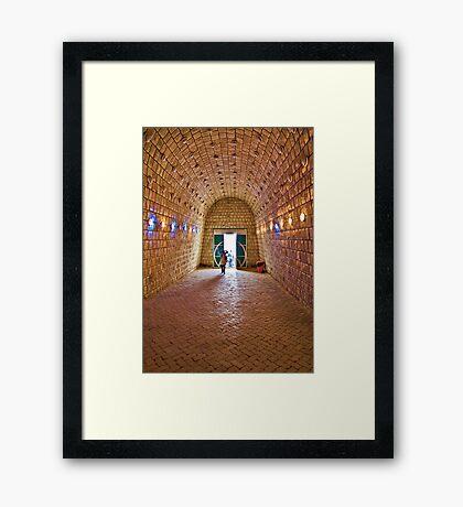 Entrance to Ali-Sadr Cave - Iran Framed Print
