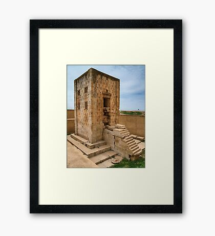 Naqsh-E Rostam - Ka'bah of Zoroaster - Necropolis - Iran Framed Print
