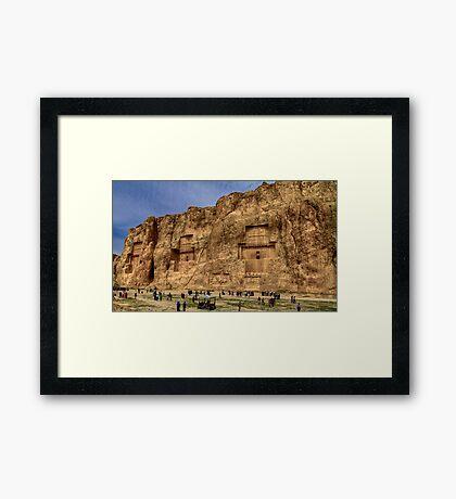 Naqsh-E Rostam - Necropolis - Iran Framed Print