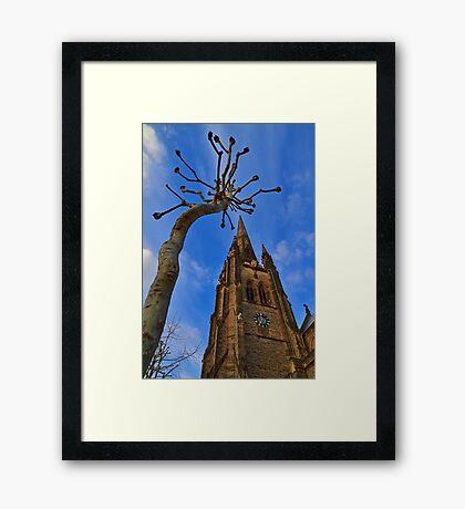 Church & Tree - London - England Framed Print