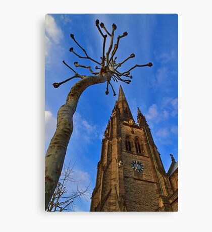 Church & Tree - London - England Canvas Print
