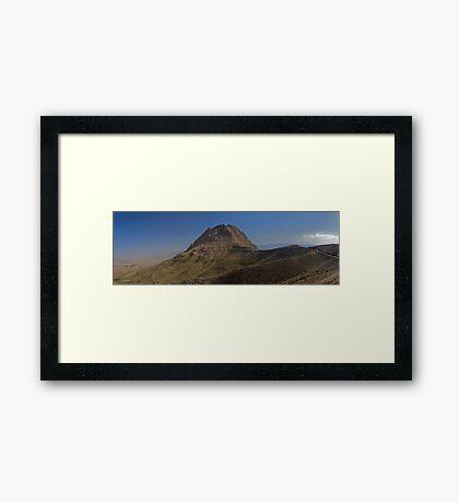 Sofeh Mountains - Esfahan - Iran - Panorama Framed Print