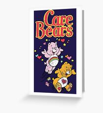 Tenderheart and Cheer Bear Distressed Vintage Retro 80s 1980s Greeting Card
