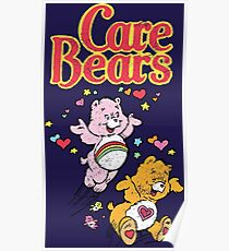 Tenderheart and Cheer Bear Distressed Vintage Retro 80s 1980s Poster