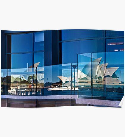 A Double Reflection on Sydney Opera House #3 - Australia Poster