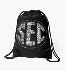 SEC with Logos Drawstring Bag