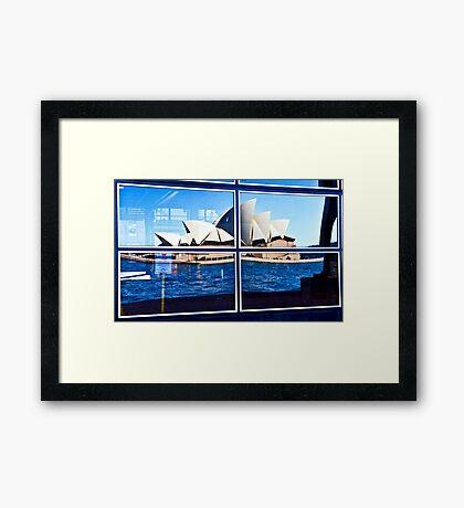 A Reflection on Sydney Opera House - Australia Framed Print