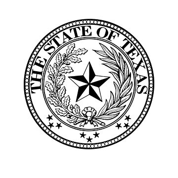 State of Texas Official Seal - Lone star state Ghost Design by Fragoutdesign