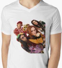 Qualle T-Shirt mit V-Ausschnitt