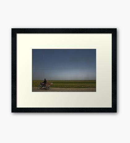 Nesting Instinct - The Road to Hamadan - Iran Framed Print