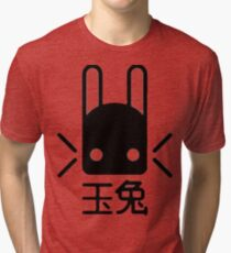 Jade Rabbit Logo(Black) Tri-blend T-Shirt