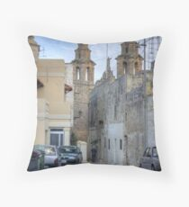 Typical Maltese village scene Throw Pillow