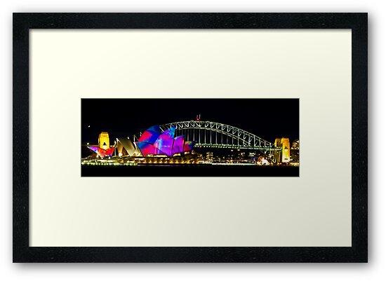 Sydney Opera House & Harbour Bridge - Vivid Festival by Bryan Freeman