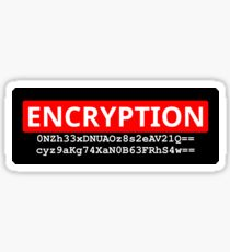 Encryption is not a Crime | Shirt, Sticker, etc. Sticker
