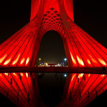 Azadi Tower (Red Reflection) -Tehran - Iran by BryanFreeman