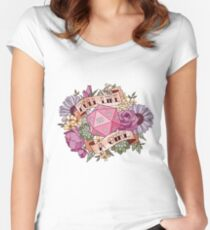 Roll Like a Girl Fitted Scoop T-Shirt