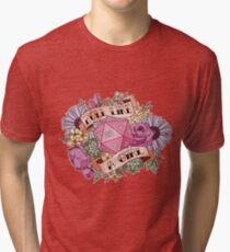 Roll Like a Girl Tri-blend T-Shirt