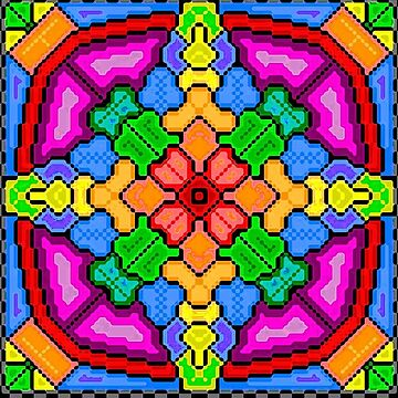 8-bit Floral Kaleidoscope by unclestich
