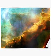 Space storm Messier 17 Poster