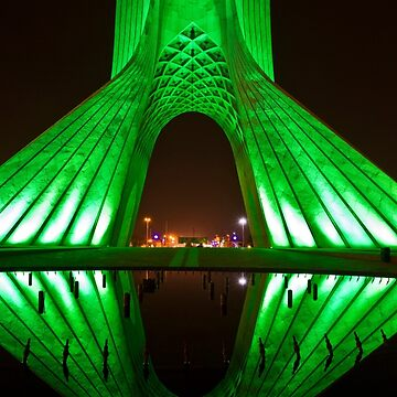 Azadi Tower (Green Reflection) -Tehran - Iran by BryanFreeman