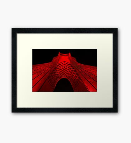 Azadi Tower (Red) -Tehran - Iran Framed Print