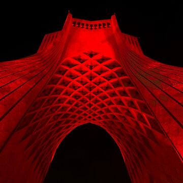 Azadi Tower (Red) -Tehran - Iran by BryanFreeman