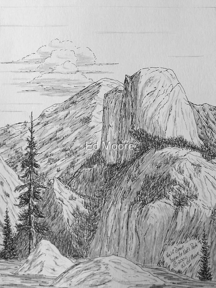 Half Dome, Yosemite National Park, California by Ed Moore
